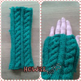 Knitted Adult Fingerless Gloves