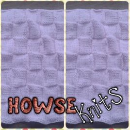 Knitted Baby Blanket (Basketweave)