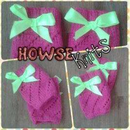 Fingerless Gloves with Bow