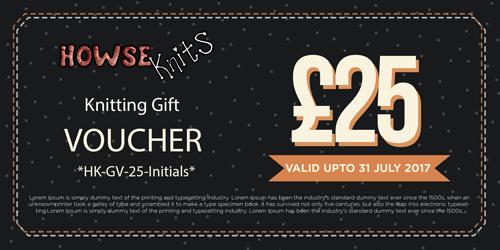 HowseKnits Gift Voucher – Free £5 – Send by Email