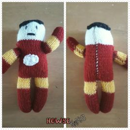 Knitted Ironman Plushie